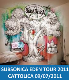 Concerto Subsonica Cattolica 2011 Eden Tour