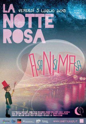 La Notte Rosa 2013 Cattolica (RN), manifesto locandina